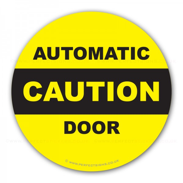 Caution Automatic Door Sticker L