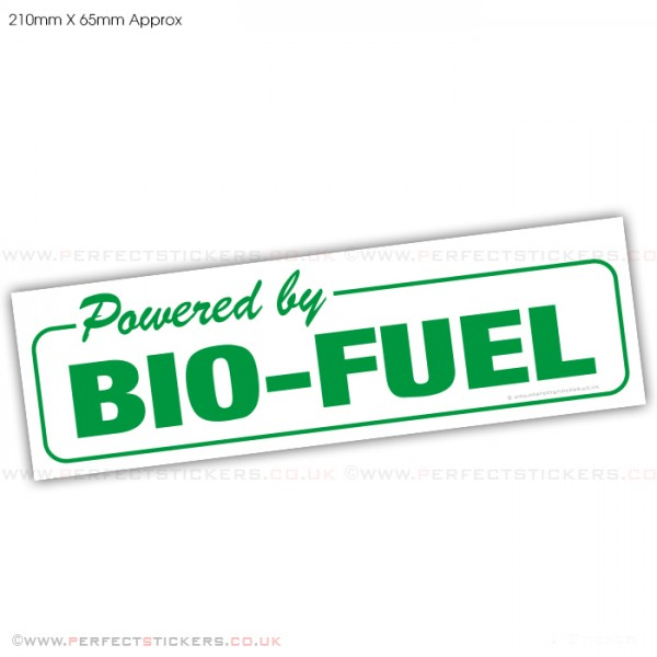 Powered By Bio-Fuel Sticker
