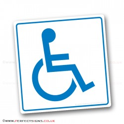 Disabled Blue Badge Holders White Stickers