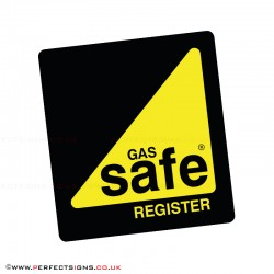 Gas Safe Large Stickers
