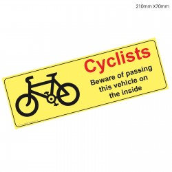 Cyclists Red Beware Sticker