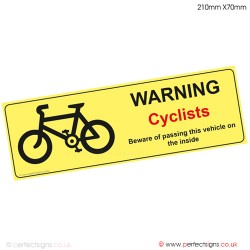 Cyclists Warning Sticker