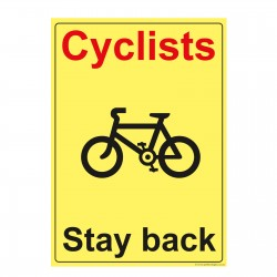 Cyclists Stay Back Red Sticker