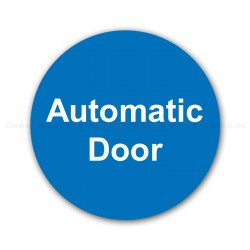 Automatic Door Round Blue Small Sticker