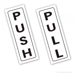Push and Pull Stickers
