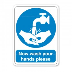 Now Wash Your Hands Please Sticker