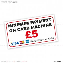 Minimum Payment £5 Card Sticker