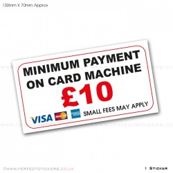 Minimum Payment £10 Card Sticker