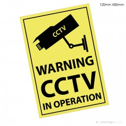 CCTV In Operation Warning Sticker