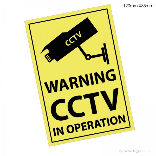 CCTV IN OPERATION Warning A5 Sticker