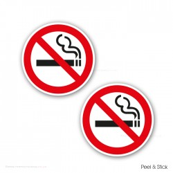 No Smoking Red Stickers