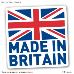 Made In Britain GB Flag Stickers
