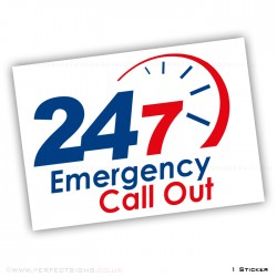 24 7 Emergency Call Out A4 Sticker