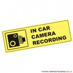 In Car Camera Recording Sticker