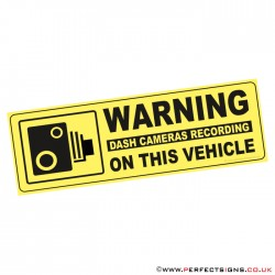 Warning Dash Cameras Recording On this Vehicle Sticker