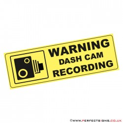 Warning Dash Cam Recording Sticker
