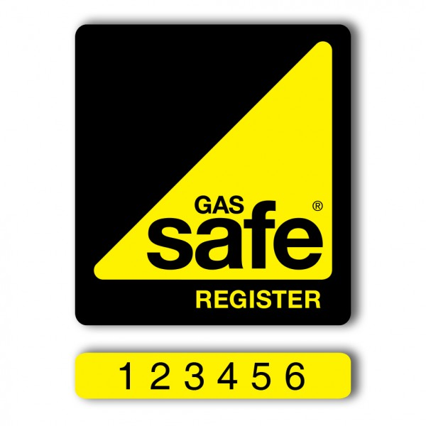 Gas Safe Personalised Sticker